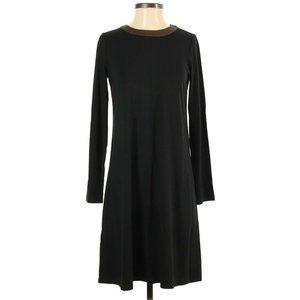 J Jill XS Shift Dress Long Sleeve Color Block